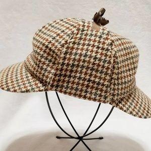 Dorfman Pacific Cap Sherlock Houndstooth Wool Hat